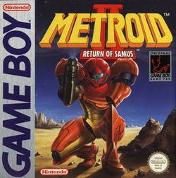 Box artwork for Metroid II: Return of Samus.