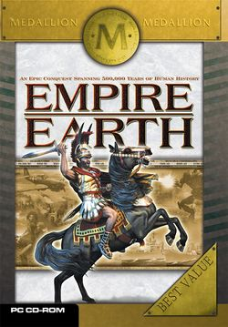 Box artwork for Empire Earth.