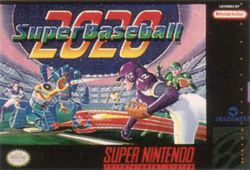 Box artwork for Super Baseball 2020.