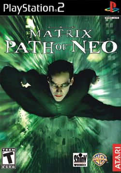 Box artwork for The Matrix: Path of Neo.