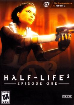 Box artwork for Half-Life 2: Episode One.