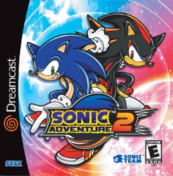 Box artwork for Sonic Adventure 2.