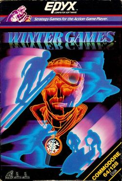 Box artwork for Winter Games.