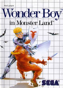 Box artwork for Wonder Boy in Monster Land.