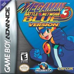 Box artwork for Mega Man Battle Network 3 Blue and White Versions.
