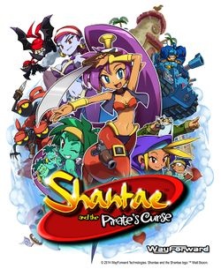 Box artwork for Shantae and the Pirate's Curse.