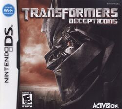 Box artwork for Transformers: Decepticons.