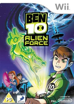 Box artwork for Ben 10: Alien Force.