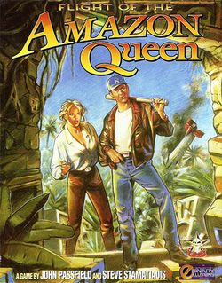 Box artwork for Flight of the Amazon Queen.
