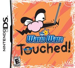 Box artwork for WarioWare: Touched!.