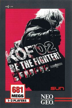 Box artwork for The King of Fighters 2002.