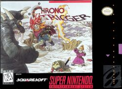 Box artwork for Chrono Trigger.