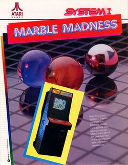 Box artwork for Marble Madness.