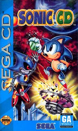 Box artwork for Sonic the Hedgehog CD.