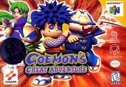 Box artwork for Goemon's Great Adventure.