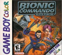 Box artwork for Bionic Commando: Elite Forces.