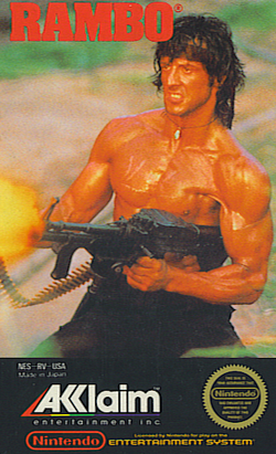 Box artwork for Rambo.