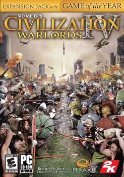 Box artwork for Civilization IV: Warlords.