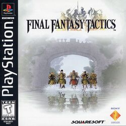 Box artwork for Final Fantasy Tactics.