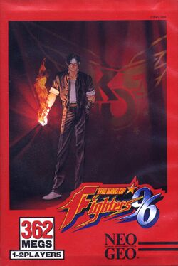 Box artwork for The King of Fighters '96.