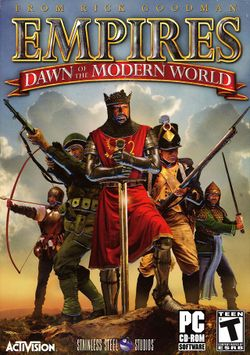 Box artwork for Empires: Dawn of the Modern World.