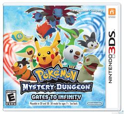 Box artwork for Pokémon Mystery Dungeon: Gates to Infinity.
