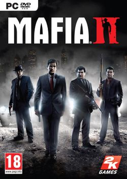 Box artwork for Mafia II.