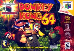 Box artwork for Donkey Kong 64.
