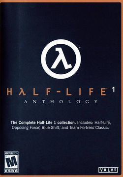 Box artwork for Half-Life 1: Anthology.