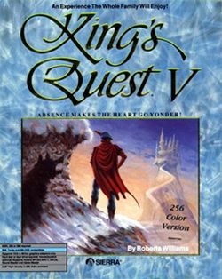 Box artwork for King's Quest V: Absence Makes the Heart Go Yonder!.