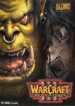 Box artwork for Warcraft III: Reign of Chaos.