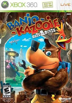 Box artwork for Banjo-Kazooie: Nuts & Bolts.