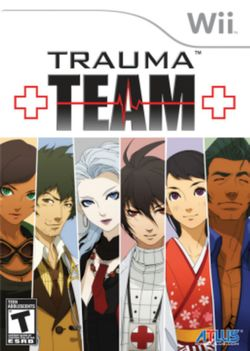 Box artwork for Trauma Team.