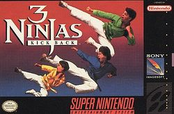 Box artwork for 3 Ninjas Kick Back.