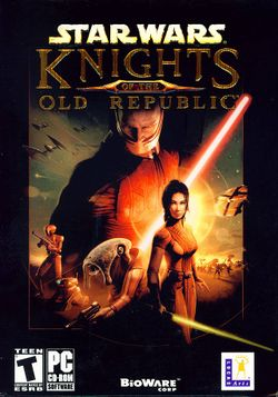 Box artwork for Star Wars: Knights of the Old Republic.