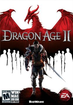 Box artwork for Dragon Age II.