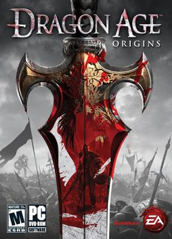 Box artwork for Dragon Age: Origins.