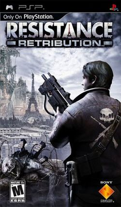 Box artwork for Resistance: Retribution.