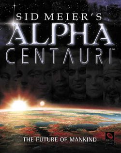 Box artwork for Sid Meier's Alpha Centauri.