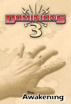 Box artwork for Dominions 3: The Awakening.
