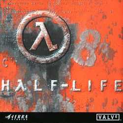 Box artwork for Half-Life.