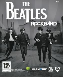 Box artwork for The Beatles: Rock Band.