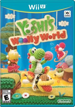 Box artwork for Yoshi's Woolly World.