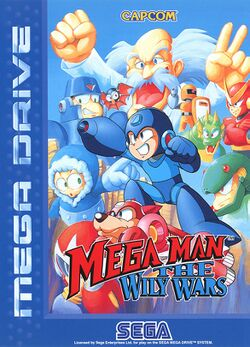 Box artwork for Mega Man The Wily Wars.
