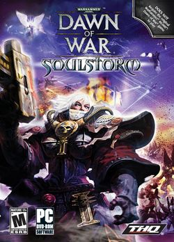 Box artwork for Warhammer 40,000: Dawn of War: Soulstorm.