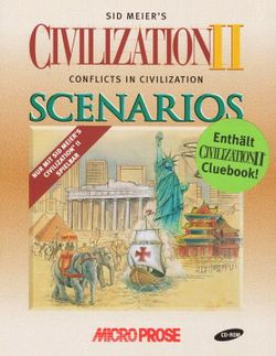 Box artwork for Civilization II: Conflicts in Civilization.