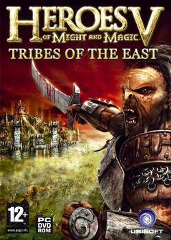 Box artwork for Heroes of Might and Magic V: Tribes of the East.