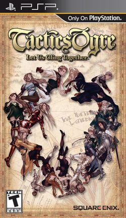 Box artwork for Tactics Ogre: Let Us Cling Together.