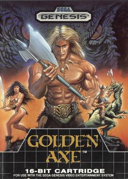Box artwork for Golden Axe.