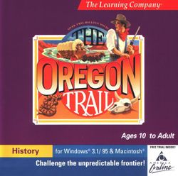 Box artwork for The Oregon Trail.
